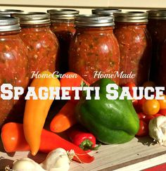 This is a basic spaghetti sauce bursting with summer's bounty. It is the garlic & salt lovers spaghetti sauce - well-rounded tangy sauce filled with fresh herbs. Great for pasta, dips, marinara and makes the perfect base for meat sauces. Canning Homemade Spaghetti Sauce, Homemade Sauce, Canned Tomato Sauce, Canning Vegetables, Canning Tomatoes, Tomato Canning, Canning Corn, Garden Tomatoes, Veggies