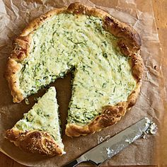 Herbed Ricotta Tart from Cooking Light - try adding zucchini (or other subtly-flavored veggie) - try using wonton wrappers and putting in individual baking cups