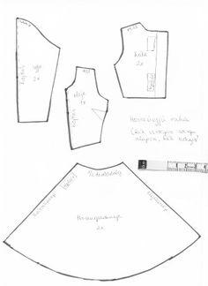 hosszúujjú ruha (harangszoknyás)