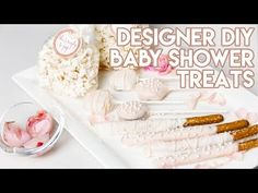 After my gender reveal, I got so many messages and requests on all the DIY treats we made, so here are 4 Easy Designer Baby Shower treats that you can make . Baby Shower Treats, Baby Girl Shower Themes, Baby Shower Table, Baby Shower Fun, Fun Baby, Colorful Baby Showers, Diy Baby Shower Centerpieces, Minnie Mouse Baby Shower, Gender Reveal Balloons