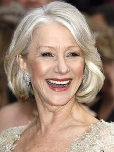 Helen Mirren - over 50 and her hair is still very attractive.