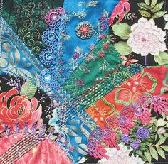 I ❤ crazy quilting & embroidery . . . Sendai finished block ~By Sewz4fun