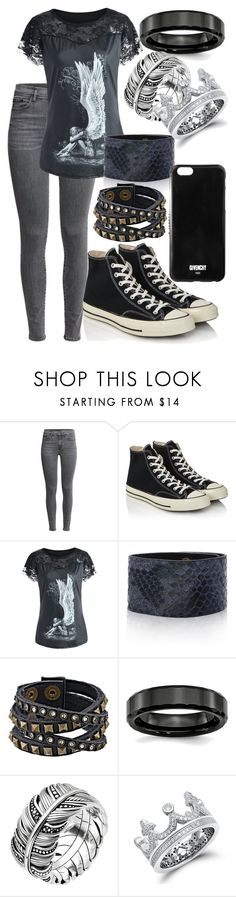 """""""Untitled #179"""" by weirdoqueen on Polyvore featuring Converse, Adoriana, Leatherock, Thomas Sabo and Givenchy"""