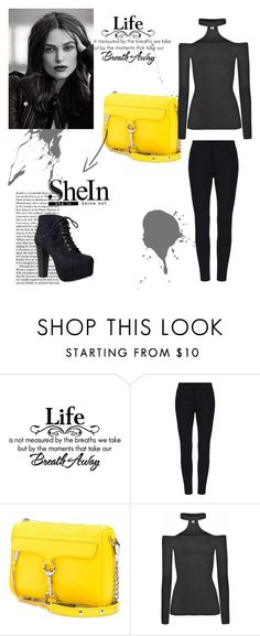 """""""SheIn"""" by abecic ❤ liked on Polyvore featuring Rebecca Minkoff, Speed Limit 98, women's clothing, women's fashion, women, female, woman, misses and juniors"""
