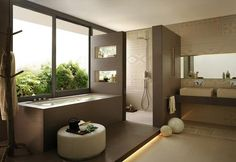 Small Modern Bathroom Custom Contemporary Bathroom Design Gallery - Home Design Ideas Brown Bathroom, Bathroom Spa, Small Bathroom, Bathroom Ideas, Neutral Bathroom, Bathroom Layout, Shower Ideas, Houzz Bathroom, Bathroom Images