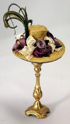 cynthia howe miniature hat bl 112 dollhouse miniature