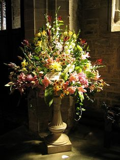 Altar Flower Arrangements for Church | church flower arrangements2