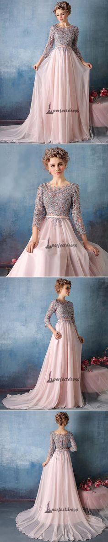 Long Cute Prom Dresses Scoop Chiffon Prom Dresses,PD4558984 #promdresses #fashion #shopping #dresses #eveningdresses
