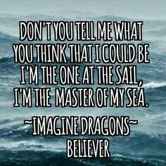 O, Llyra, Don't go there, don't... Imagine Dragons: Believer 2017...