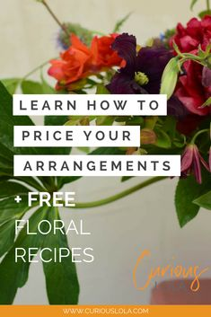 Our unique system and guide for how to price your floral designs right every time. Plus you get this free floral recipe for making a lush, organic, asymmetrical flower arrangement centerpiece for your Flower Shop Design, Flower Designs, Floral Design, Become A Florist, Modern Flower Arrangements, Table Arrangements, Flower Truck, Cut Flower Garden, Lush