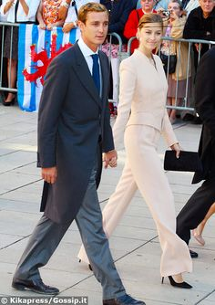 21 September 2013 - Pierre and Beatrice attend Prince Felix of Luxembourg's wedding to Claire Lademacher