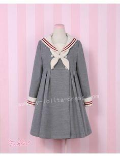 Girl's Vintage Sailor Style Uniform Lolita Jacket  from http://www.my-lolita-dress.com/lolita-dresses/casual-lolita-items