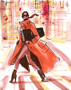 #fashion #illustration #fashionillustration #henribendel #nyc #izak #izakzenou