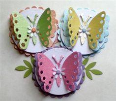 Pop-Up Paper Butterflies. Shimmer Mix.