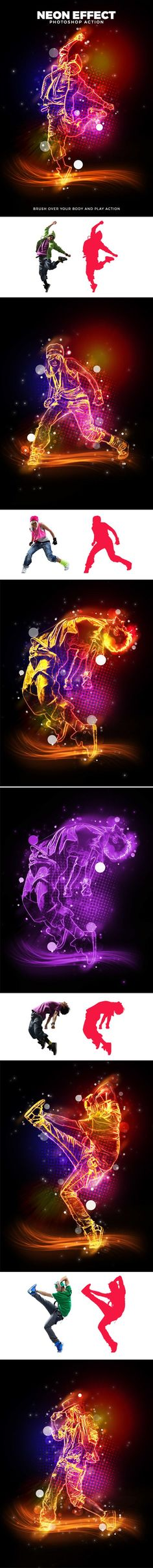 Neon Effect Photoshop Action. Download here: graphicriver.net/...