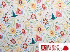 Chickadee Fabric by JoBerryFabrics on Etsy