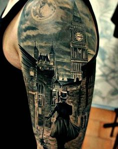 Old London sleeve tattoo