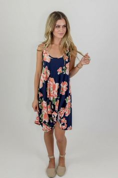 Pick Me Floral Dress  www.voguishthreads.com