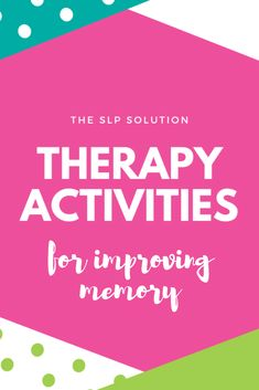 Working with children who struggle with memory issues? We recently added a great resource for helping you help them! Check out our membership to access our series of videos explaining therapy activities and techniques for improving memory in children.