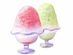 Colored Pencil Drawings of Japanese Cuisine (Vol.02)    - Ice Cream - Colored Pencil Drawings of Japanese Foods 2