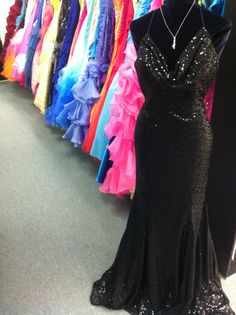 Looking for a #Homecoming dress? We have in stock starting at $99!Are you a part of homecoming court and need a solid black gown? We have several in stock! Like this gorgeous full #sequin gown!