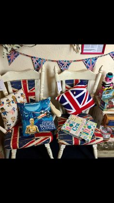 Union flag chairs