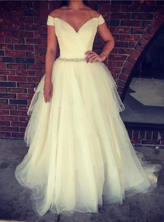 Wedding Dress Hire 2016 Ball Gown Wedding Dresses With Tiered Skirts And Off Shoulder Model Pictures Pleated Layers Tulle Bridal Gowns With Crystals Sash Wedding Dress Outlet From Nicedressonline, $166.44  Dhgate.Com