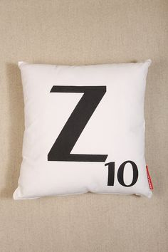 Z Scrabble Cushion - Urban Outfitters