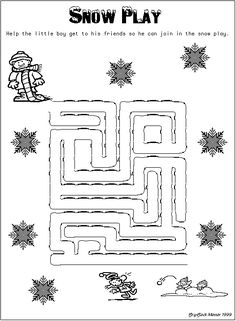SnowPlay Maze - - Pinned by @PediaStaff – Please visit http://ht.ly/63sNt for all (hundreds of) our pediatric therapy pins