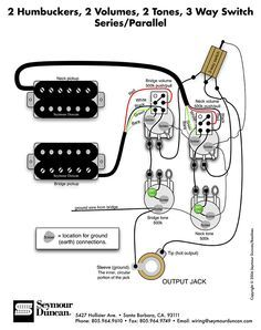 Wiring Diagram for 2 humbuckers 2 tone 2 volume 3 way