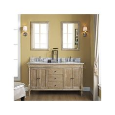 Fairmont Designs Rustic Chic Weathered Oak Double Bowl Bathtoom Vanity 60 x x Rustic Chic, Rustic Decor, Fairmont Designs, Contemporary Vanity, Dream Bath, Weathered Oak, Double Vanity, Bathroom Ideas, Stuff To Buy