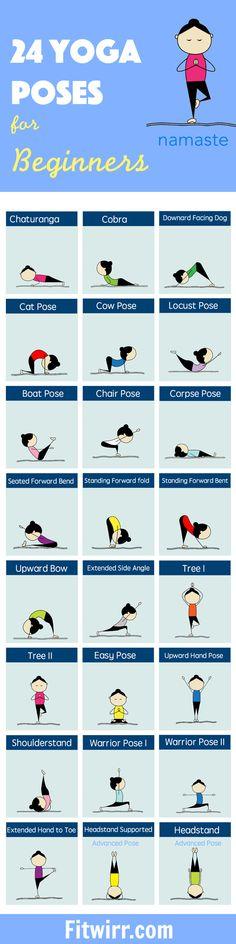 24 Yoga Poses
