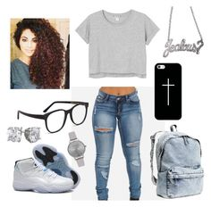 """""""Untitled #112"""" by xoalyscia ❤ liked on Polyvore featuring Monki, Retrò, H&M, Larke, Olivia Burton, Casetify and Rock Rebel"""