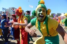 Happiness on their faces > South African Olympic delegation arrive for the flag raising ceremony at the Olympic Village