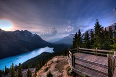 Peyto Lake Overlook in lake Louise - Heaven in the Mountains by Beth Allan, via 500px