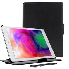 Kamor® Apple iPad Air Case Cover 2013 ultra smart slim case leather folio, Automatic Sleep/Wake Function, Built-in Multiple Stand for for iPad 5 Air (5th Gen) Tablet(16GB /32BG/128BG Wifi And Cellular, Not Compatible with iPad 1/2/3/4/iPad Min)- Black