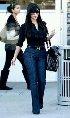 of the High-Waisted Pants Kim Kardashian: High waist pants, she looks so cute. that hermes belt. perfectKim Kardashian: High waist pants, she looks so cute. that hermes belt. Look Fashion, Fashion Outfits, Womens Fashion, Fashion Trends, 2000s Fashion, Grunge Fashion, Petite Fashion, Korean Fashion, High Fashion