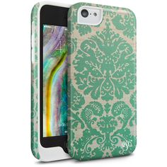 Cellairis by Elle & Blair Baroque Protection Case for Apple iPhone 5C - Mint Ivy