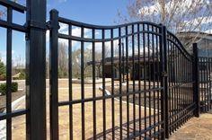 Double drive ornamental aluminum gates