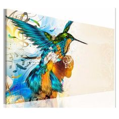 75X50cm Colorful Fly Lark Wall Art Oil Painting Frameless Picture Home Decor