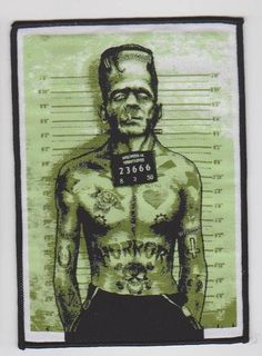 Frankenstein Punk Sew on Patch