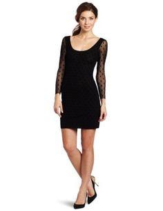 Reviews Weston Wear Women's Flock Long Sleeve Camille Dress, Black, Large