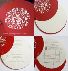 Luv Inspiration: Traditional Classic ~ Magpie bird in circle invitations Chinese