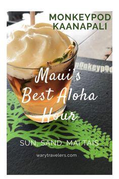 Sun, Sand and Mai Tais! Monkeypod Kaanapali Maui has the best Mai Tais on the Island. Hawaii Travel Guide, Maui Travel, Hawaii Honeymoon, Aloha Hawaii, Visit Hawaii, Trip To Maui, Hawaii Vacation, Kaanapali Maui, Kapalua Hawaii
