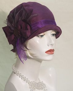 84fba5a08bc Vintage inspired hand made cloche  flapper style 1920s 1930s 1940s hat  Flapper Hat