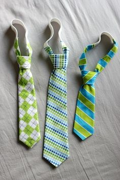 How to make toddler ties tutorial