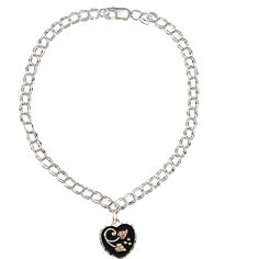 Black Hills Gold and Sterling Silver Heart Dangle Bracelet ($60) ❤ liked on Polyvore featuring jewelry, bracelets, white, gold heart jewelry, sterling silver charm bracelet, sterling silver jewelry, heart jewelry and sterling silver heart jewelry