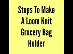 Steps To Make A Grocery Bag Holder - YouTube