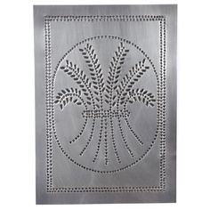 USA Handcrafted - Four Handcrafted Punched Tin Cabinet Panel Primitive Wheat Design, Country Tin - Kitchen Cabinetry Punched Tin Patterns, Patterned Furniture, Metal Embossing, Pie Safe, French Country Decorating, Country Primitive, Recycled Crafts, Cabinet Design, Furniture Projects