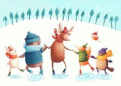 Christmas Cards I by Monika Filipina Trzpil, via Behance